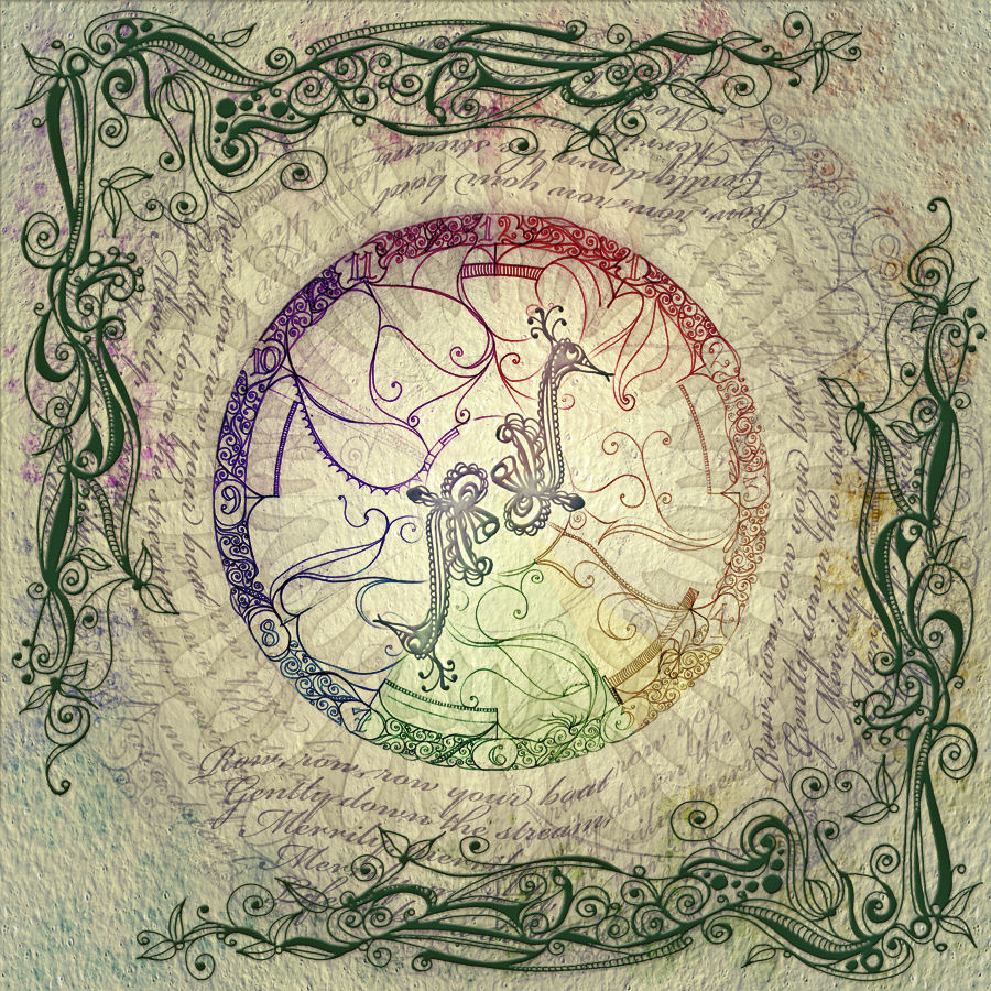 """Circle of Life"" doodles & photoshop"