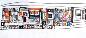 Some Klimt, some Zak Smith. Little bits of color