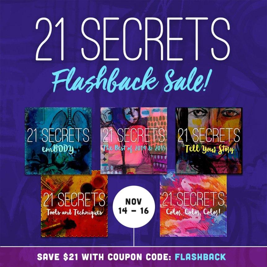 21 Secrets flashback sale 14-16 November